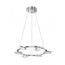 Люстра подвесная светодиодная Favourite 1699-6P Petals хром 18 Вт