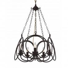 Люстра в стиле Лофт Favourite 1520-5P Ringe черный