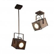 Светильник подвесной Favourite 2037-1U Foco коричневый