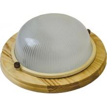 Накладной светильник Feron НБО 03-60-011 220V 60Вт Е27 IP54 дерево клен круг (арт. 11569)