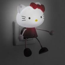 """Светильник-ночник """"Кот"""" Feron FN1156 4LED 0.5W 220V красный оснащен датчиком день/ночь (арт. 23362)"""