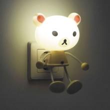 """Светильник-ночник """"Медвежонок"""" Feron FN1157 4LED 0.5W 220V желтый оснащен датчиком день/ночь (арт. 23363)"""