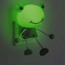 """Светильник-ночник """"Лягушка"""" Feron FN1158 4LED 0.5W 220V зеленый оснащен датчиком день/ночь (арт. 23364)"""