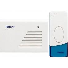Беспроводной звонок Feron H-118B (DB425) 2 мелодии 2*1.5V/AA белый