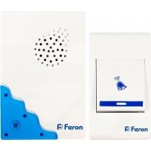 Беспроводной звонок Feron E-223 (DB606) (кнопка IP20) 32 мелодии, 2*1,5V/АА, белый, синий