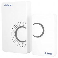 Звонок беспроводной Feron E-373 36 мелодий белый серый (арт. 23686)