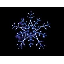 "Световая фигура ""Снежинка"" Feron LT004 62*62cm 100LED белый, синий (арт. 26702)"