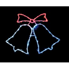 """Световая фигура """"Кокольчики"""" Feron LT013 59*45cm 60LED белый, красный, синий (арт. 26711)"""