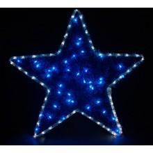"Световая фигура ""Звезда"" Feron LT015 60*60cm 136LED белый, синий (арт. 26713)"
