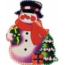 """Световая фигура """"Снеговик"""" Feron LT017 108LED RGB (арт. 26715)"""