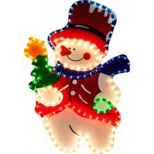 """Световая фигура """"Снеговик"""" Feron LT019 144LED RGB (арт. 26717)"""
