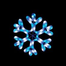 "Световая фигура ""Снежинка"" Feron LT001 26*26cm 48LED белый, синий (арт. 26805)"