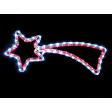 "Световая фигура ""Комета"" Feron LT009 60*62cm 96LED белый, красный (арт. 26806)"