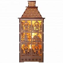 """Деревянная световая фигура """"Башня"""" Feron LT091 12*29,5*12cm 5LED теплый белый (арт. 26840)"""