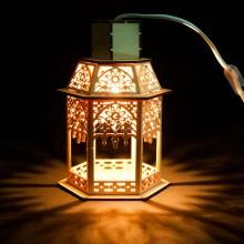 """Деревянная световая фигура """"Фонарь"""" Feron LT093 13,5*19*11,5cm теплый белый (арт. 26844)"""
