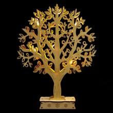 """Деревянная световая фигура """"Дерево"""" Feron LT094 24*31*4,5cm 10LED теплый белый (арт. 26846)"""