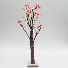 Световое дерево с ягодами Feron LT042 60cm 24LED белый (арт. 26864)