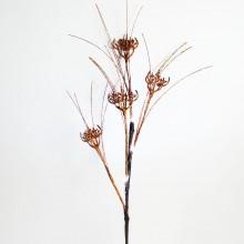Светодиодная декоративная ветка Feron LD209B 62cm 4LED коричневый, золото (арт. 26866)