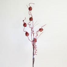 Светодиодная декоративная ветка Feron LD209B 62cm 4LED красный, коричневый (арт. 26868)