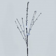 Светодиодная декоративная ветка Feron LD209B 62cm 4LED коричневый, белый (арт. 26872)