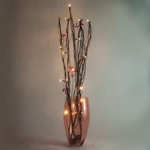 Светодиодная декоративная ветка Feron LD214B 75cm 20LED коричневый, красный (арт. 26877)