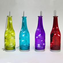 """Световая фигура """"Бутылка красная"""" Feron LT049 24cm 8LED белый (арт. 26899)"""
