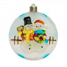 "Световая фигура ""Ёлочная игрушка со снеговиками"" Feron LT050 4*10cm 4LED RGB (арт. 26901)"