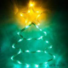 """Световая фигура из синтетической нити """"Елка"""" Feron LT052 28*40cm 15LED белый (арт. 26912)"""
