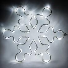 """Световая фигура из синтетической нити """"Снежинка"""" Feron LT053 33*33cm 15LED белый (арт. 26913)"""