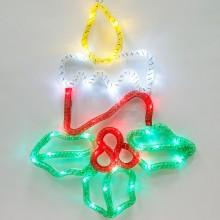 """Световая фигура из синтетической нити """"Свечи"""" Feron LT054 31*41,5cm 15LED белый (арт. 26914)"""