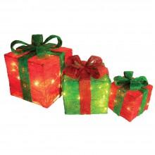 "Набор световых фигур ""Подароки"" Feron LT055 45LED белый (арт. 26915)"
