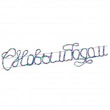 """Световая фигура из дюралайта с текстом """"С Новым Годом"""" Feron LT033 180*44cm 264LED RGB (арт. 26927)"""