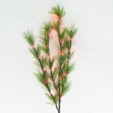Светодиодная декоративная ветка ели Feron LD208B 80cm 24LED красный (арт. 26939)