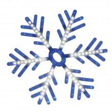 "Световая фигура ""Снежинка"" Feron LT035 58*58cm 142LED белый, синий (арт. 26943)"