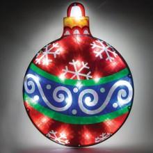 "Световая фигура ""Новогодний шар"" Feron LT036 38,5*50*2cm 20LED белый (арт. 26944)"