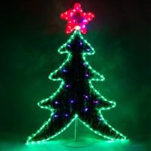 "Световая фигура ""Ёлка на подставке"" Feron LT061 60*45cm 40LED RGB (арт. 26950)"