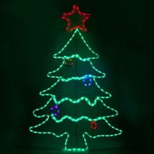 """Световая фигура """"Елка плоская"""" Feron LT062 87*136cm 240LED RGB (арт. 26951)"""