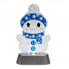 "Декоративная световая фигура ""Снеговик"" Feron LT099 11*18,5*5cm 3LED белый (арт. 26961)"