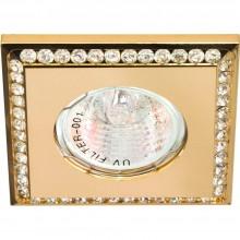 Точечный светильник Feron DL102-C MR16 50W G5.3 прозрачный,золото (арт. 28374)
