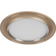 Встраиваемый светодиодный светильник Feron AL650 7W 560Лм 4000К шампань (арт. 28929)
