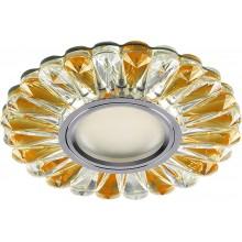 Светильник встраиваемый с белой LED подсветкой Feron CD901 потолочный MR16 G5.3 прозрачный-коричневый