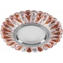 Точечный светильник Feron CD902 MR16 50W G5.3 прозрачный-коричневый, хром (арт. 28973)