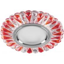Точечный светильник Feron CD902 MR16 50W G5.3 прозрачный-красный, хром (арт. 28974)