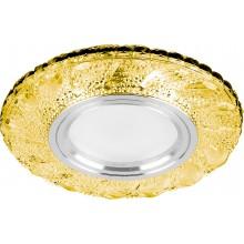 Точечный светильник Feron CD907 MR16 50W G5.3 желтый, хром (арт. 28978)