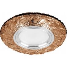 Точечный светильник Feron CD907 MR16 50W G5.3 коричневый, хром (арт. 28979)