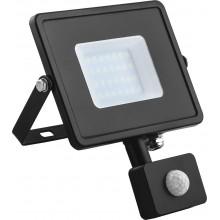 Прожектор с датчиком движения Feron LL-906 20W 6400K 230V черный IP44 121*160*53мм (арт. 29556)