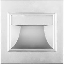Подсветка светодиодная для лестниц Feron JD12 1.5W 60Lm 4000K серебро (арт. 29559)