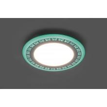 Светильник встраиваемый с зелёной LED подсветкой Feron AL2440 6W 480Lm 4000К (арт. 29591)