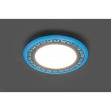 Светильник встраиваемый с синей LED подсветкой Feron AL2440 6W 480Lm 4000К (арт. 29592)