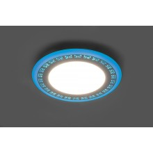 Светильник встраиваемый с синей LED подсветкой Feron AL2440 9W 720Lm 4000К (арт. 29595)